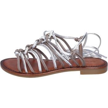 Scarpe Donna Sandali Inuovo sandali pelle grigio