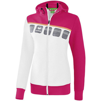 Abbigliamento Unisex bambino Giacche sportive Erima Veste d'entrainement à capuche enfant blanc/bleu cliar