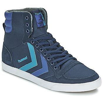Scarpe Sneakers alte Hummel TEN STAR WAXED CANVAS HI Blu