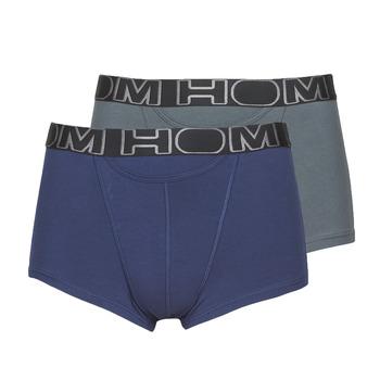 Biancheria Intima  Uomo Boxer Hom HOM BOXERLINES BOXER BRIEF HO1 PACK X2 Grigio / Marine