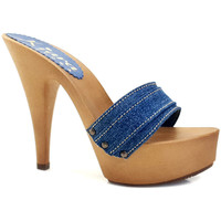Scarpe Donna Ciabatte Kiara Shoes K9301 Denim