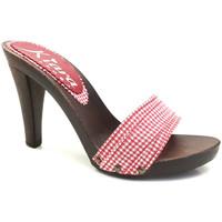 Scarpe Donna Ciabatte Kiara Shoes K3101 Rosso Pin-Up