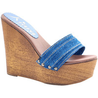 Scarpe Donna Ciabatte Kiara Shoes KZ3101 Denim