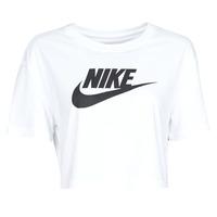 Abbigliamento Donna T-shirt maniche corte Nike W NSW TEE ESSNTL CRP ICN FTR Bianco / Nero