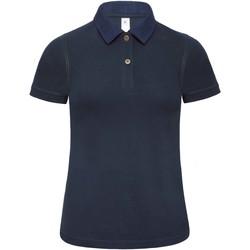 Abbigliamento Donna Polo maniche corte B And C B803F Denim/Blu navy