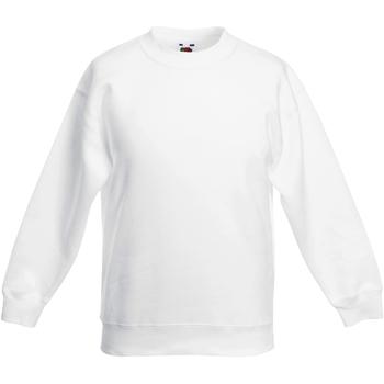 Abbigliamento Unisex bambino Felpe Fruit Of The Loom Classic Bianco