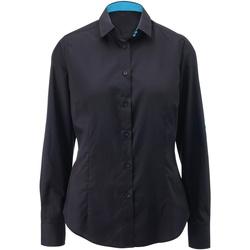 Abbigliamento Donna Camicie Alexandra AX060 Nero/Pavone