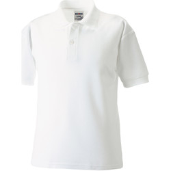 Abbigliamento Bambino Polo maniche corte Jerzees Schoolgear 65/35 Bianco