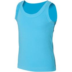 Abbigliamento Unisex bambino Top / T-shirt senza maniche Skinni Fit SM016 Azzurro mare