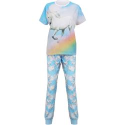 Abbigliamento Donna Pigiami / camicie da notte Christmas Shop Unicorn Azzurro