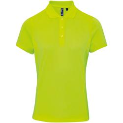 Abbigliamento Donna Polo maniche corte Premier PR616 Giallo neon