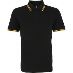 Abbigliamento Uomo Polo maniche corte Asquith & Fox AQ011 Nero/Giallo