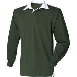 Abbigliamento Uomo Polo maniche lunghe Front Row Rugby Verde bottiglia