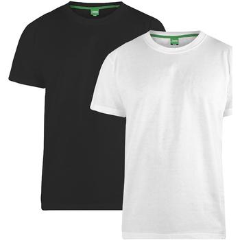 Abbigliamento Uomo T-shirt maniche corte Duke Fenton Nero/Bianco