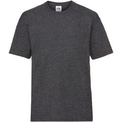 Abbigliamento Unisex bambino T-shirt maniche corte Fruit Of The Loom 61033 Grigio scuro screziato