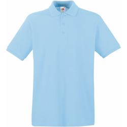 Abbigliamento Uomo Polo maniche corte Fruit Of The Loom 63218 Azzurro cielo