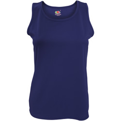 Abbigliamento Donna Top / T-shirt senza maniche Fruit Of The Loom 61418 Blu scuro