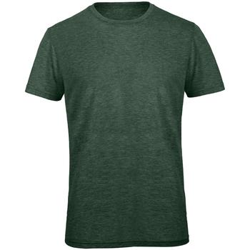 Abbigliamento Uomo T-shirt maniche corte B And C TM055 Verde foresta screziato