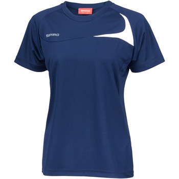 Abbigliamento Donna T-shirt maniche corte Spiro S182F Blu navy/Bianco