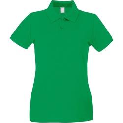 Abbigliamento Donna Polo maniche corte Universal Textiles 63030 Verde brillante