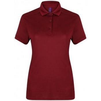 Abbigliamento Donna Polo maniche corte Henbury HB461 Bordeaux