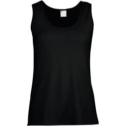 Abbigliamento Donna Top / T-shirt senza maniche Universal Textiles Fitted Nero