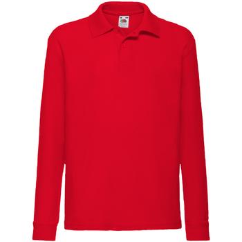 Abbigliamento Bambino Polo maniche lunghe Fruit Of The Loom 63201 Rosso