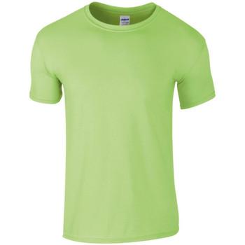 Abbigliamento Uomo T-shirt maniche corte Gildan SoftStyle Verde menta