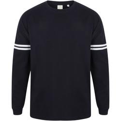 Abbigliamento Uomo T-shirts a maniche lunghe Skinni Fit Slogan Blu Oxford/Bianco righe