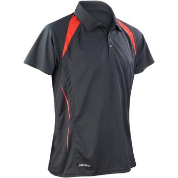Abbigliamento Uomo Polo maniche corte Spiro S177M Nero/Rosso