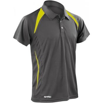 Abbigliamento Uomo Polo maniche corte Spiro S177M Grigio/Lime