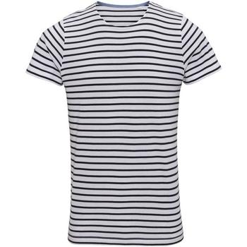 Abbigliamento Uomo T-shirt maniche corte Asquith & Fox Mariniere Bianco/Blu navy