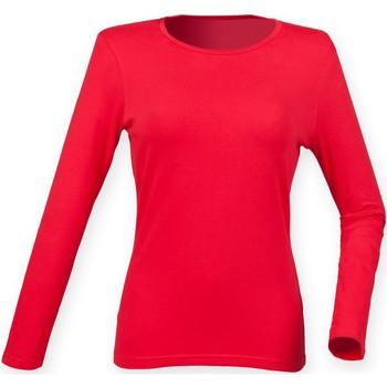 Abbigliamento Donna T-shirts a maniche lunghe Skinni Fit SK124 Rosso Brillante