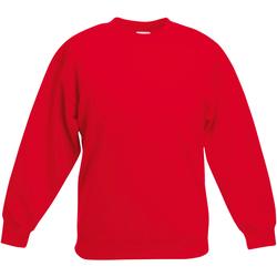 Abbigliamento Unisex bambino Felpe Fruit Of The Loom Classic Rosso