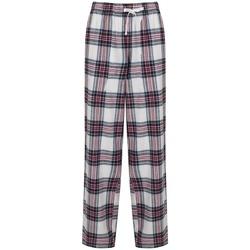 Abbigliamento Donna Pantaloni morbidi / Pantaloni alla zuava Skinni Fit Tartan Bianco/Rosa
