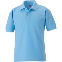 Abbigliamento Bambino Polo maniche corte Jerzees Schoolgear 65/35 Azzurro cielo