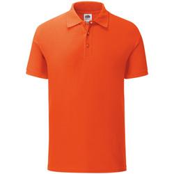 Abbigliamento Uomo Polo maniche corte Fruit Of The Loom Iconic Arancione
