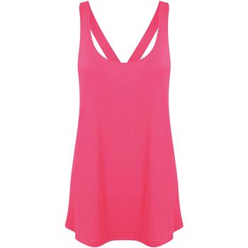 Abbigliamento Donna Top / Blusa Skinni Fit Workout Rosa neon