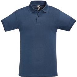 Abbigliamento Uomo Polo maniche corte Sols 11346 Denim