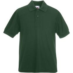 Abbigliamento Bambino Polo maniche corte Fruit Of The Loom 63417 Verde bottiglia
