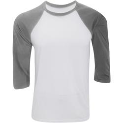 Abbigliamento Uomo T-shirts a maniche lunghe Bella + Canvas CA3200 Bianco/Erica scura