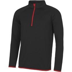 Abbigliamento Uomo Felpe Awdis JC031 Nero/Rosso Fuoco