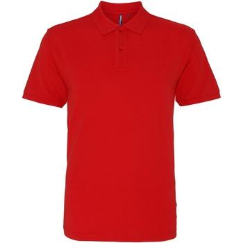Abbigliamento Uomo Polo maniche corte Asquith & Fox AQ010 Rosso Washed