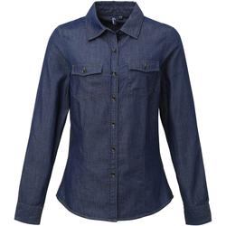 Abbigliamento Donna Camicie Premier Stitch Indaco