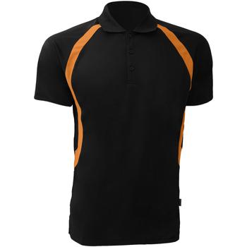 Abbigliamento Uomo Polo maniche corte Gamegear Riviera Nero/Arancio
