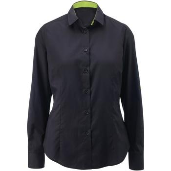 Abbigliamento Donna Camicie Alexandra AX060 Nero/Lime