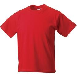 Abbigliamento Unisex bambino T-shirt maniche corte Jerzees Schoolgear ZT180B Rosso acceso