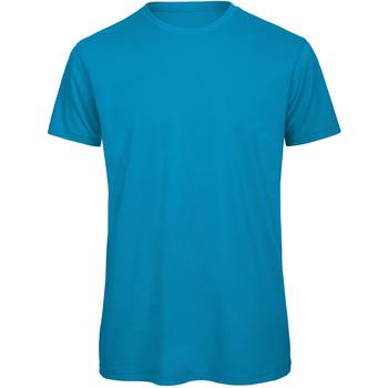 Abbigliamento Uomo T-shirt maniche corte B And C TM042 Azzurro