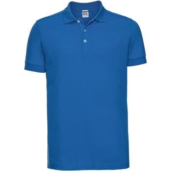 Abbigliamento Uomo Polo maniche corte Russell 566M Azzurro