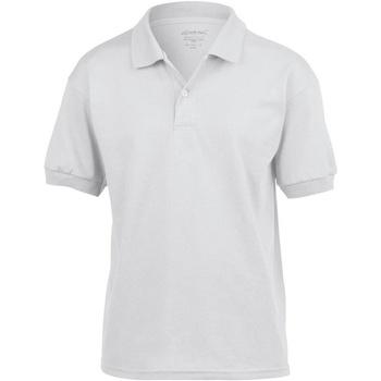 Abbigliamento Unisex bambino Polo maniche corte Gildan 8800B Bianco